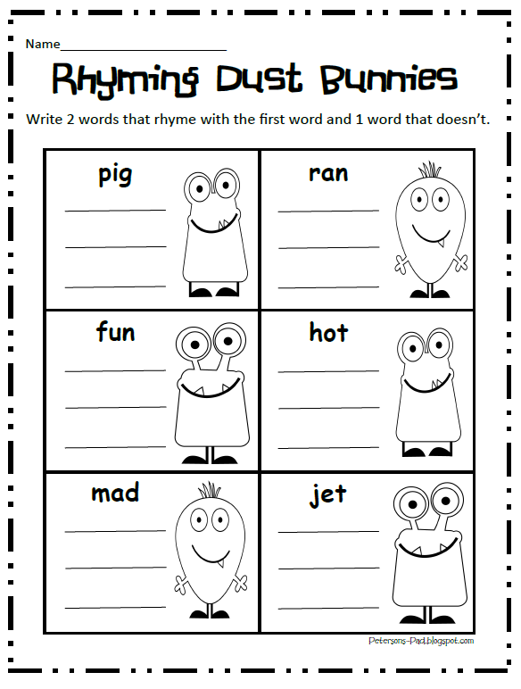 Peterson's Pad: Rhyming Fun FREEBIE