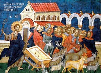 Resultado de imagem para Jesus purifica o templo icone