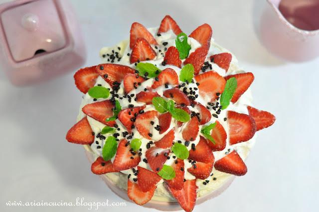 Blog di cucina di Aria: La mia Pavlova alle fragole ...