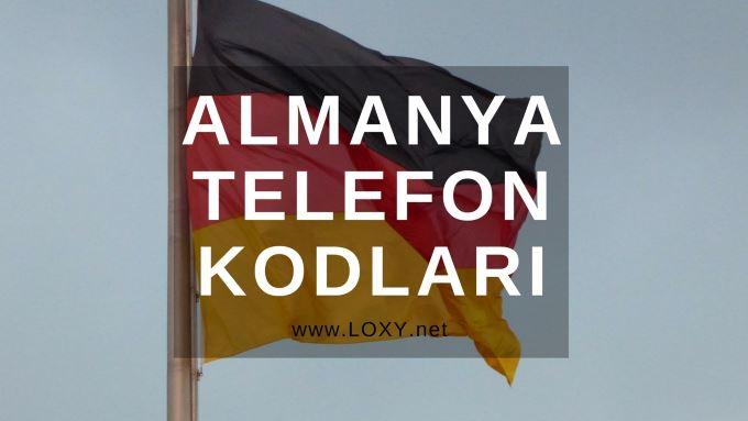 Almanya Şehirlerin Telefon Kodları