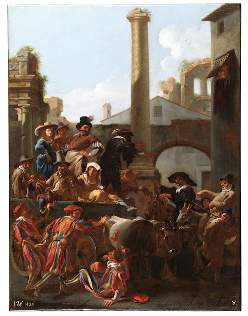 Jan Miel -El Carnaval en Roma - 1653