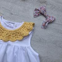 cuello de crochet para niñas