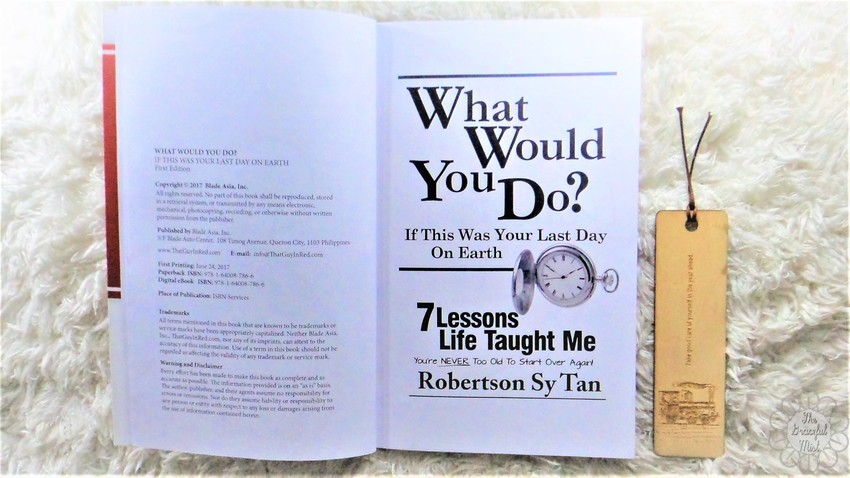 "Book Review: ""What Would You Do? If This Was Your Last Day On Earth"" by Mr. Robertson Sy Tan 