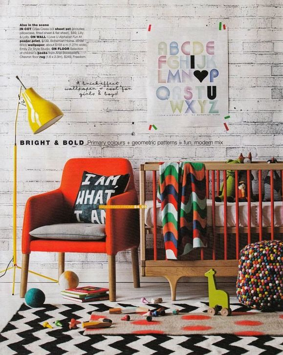 layered rugs in the nursery