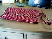 custom made polka dots and birds diaper clutch | http://panpancrafts.blogspot.de/