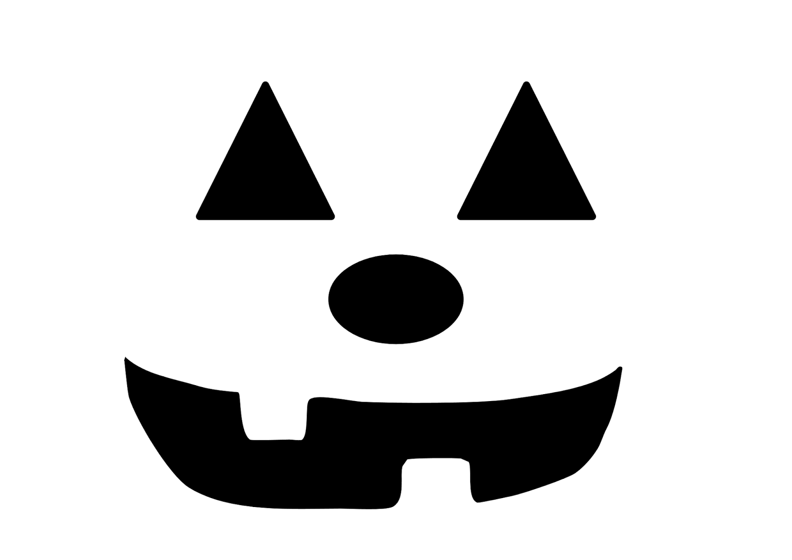 Scary Face Stencils. Scary Face Pumpkin Carving Pattern With Scary ...