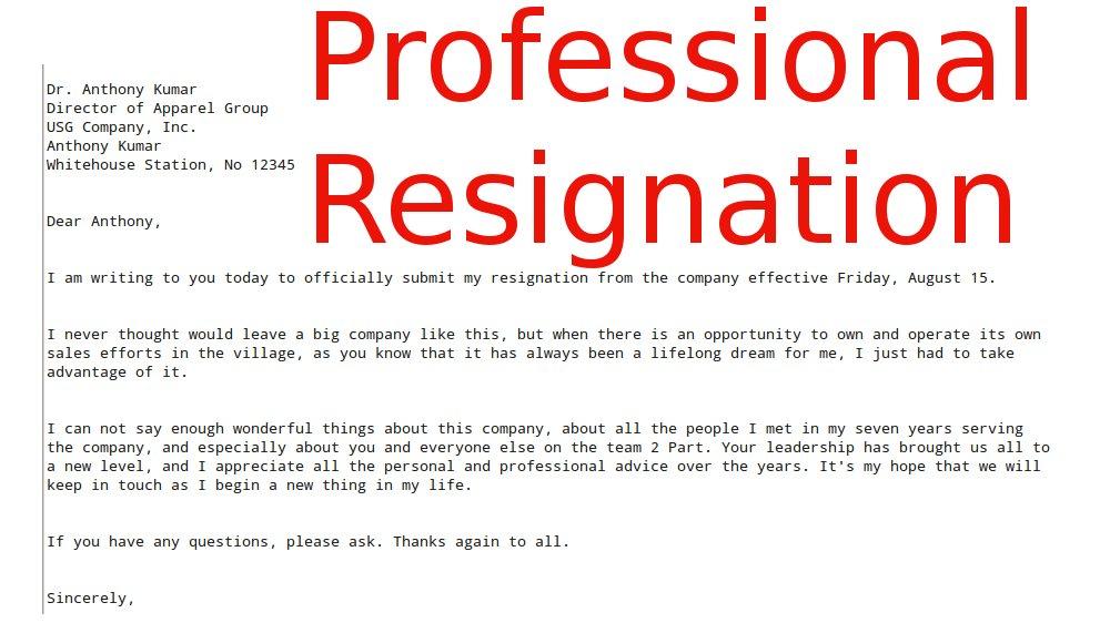 appreciative resignation letter sample. career change ...