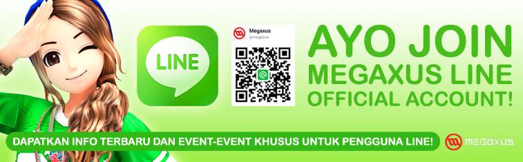 Megaxus Rilis Akun Sosial Media LINE