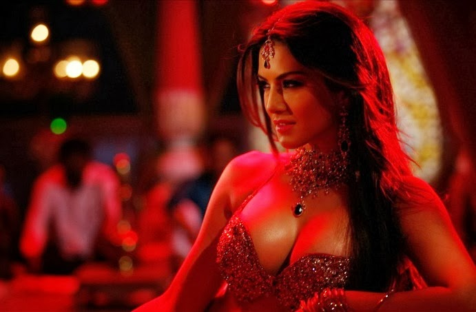 Sunny Leone Hot Red Dress