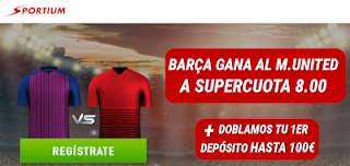 sportium supercuota champions 8 Barcelona vs United + 100€ 16 abril 2019