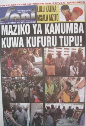 Steven Kanumbas death shakes Tanzania (Photos)   Welcome