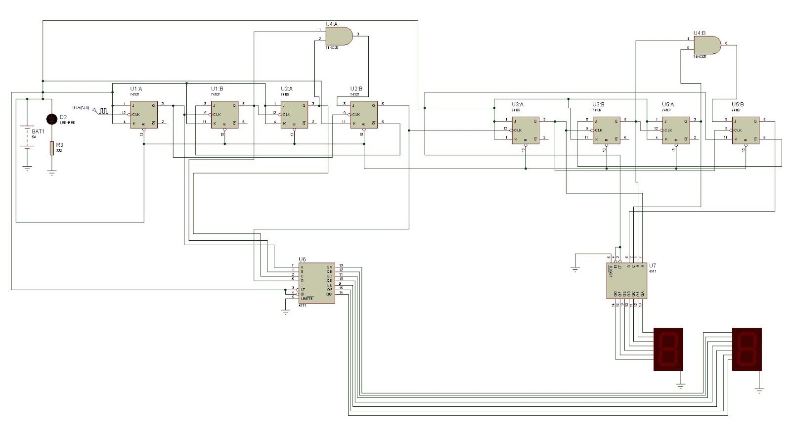medium resolution of 0 99 counter circuit with jk flip flop