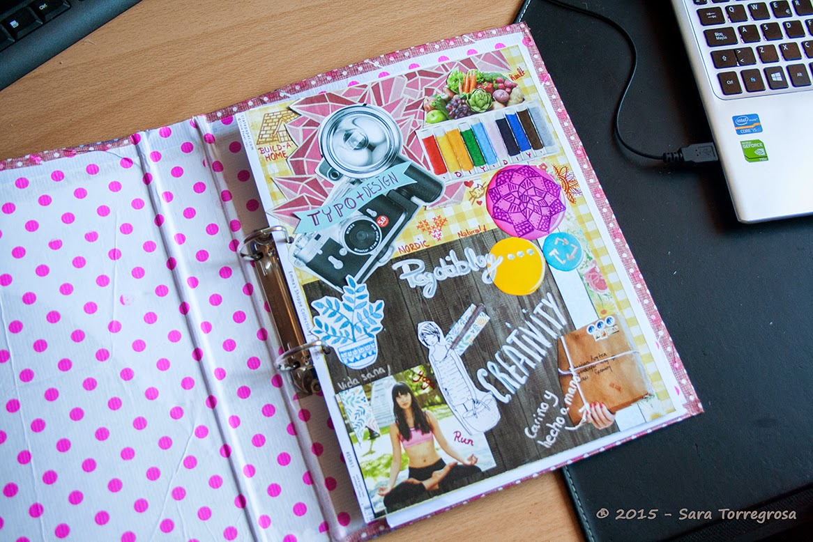 Decorar un viejo archivador con papel estampado - El Pegotiblog