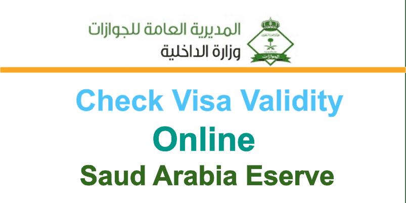 Check Visa Validity Visa Status Online in Saudi Arabia