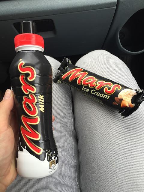 Mars Milch und Mars Eis