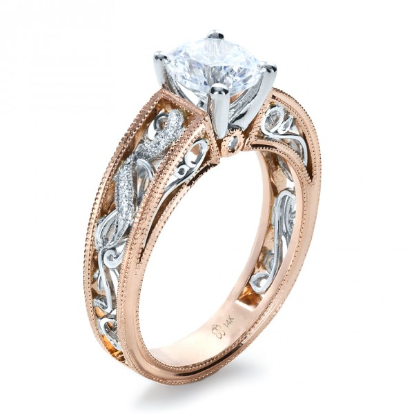 White Gold And Rose Gold Wedding Rings