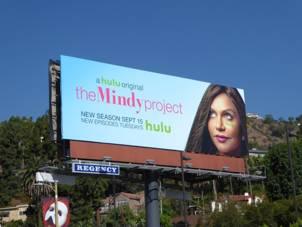 The Mindy Project season 4 Hulu billboard