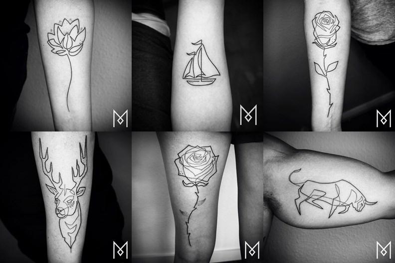 72 tatuagens de linha unica para se inspirar