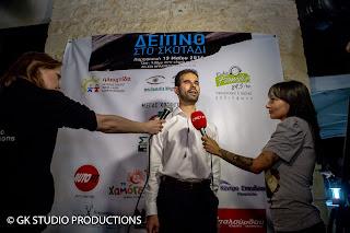Ο Βαγγέλης Αυγουλάς δίνει συνέντευξη στα τοπικά κανάλια