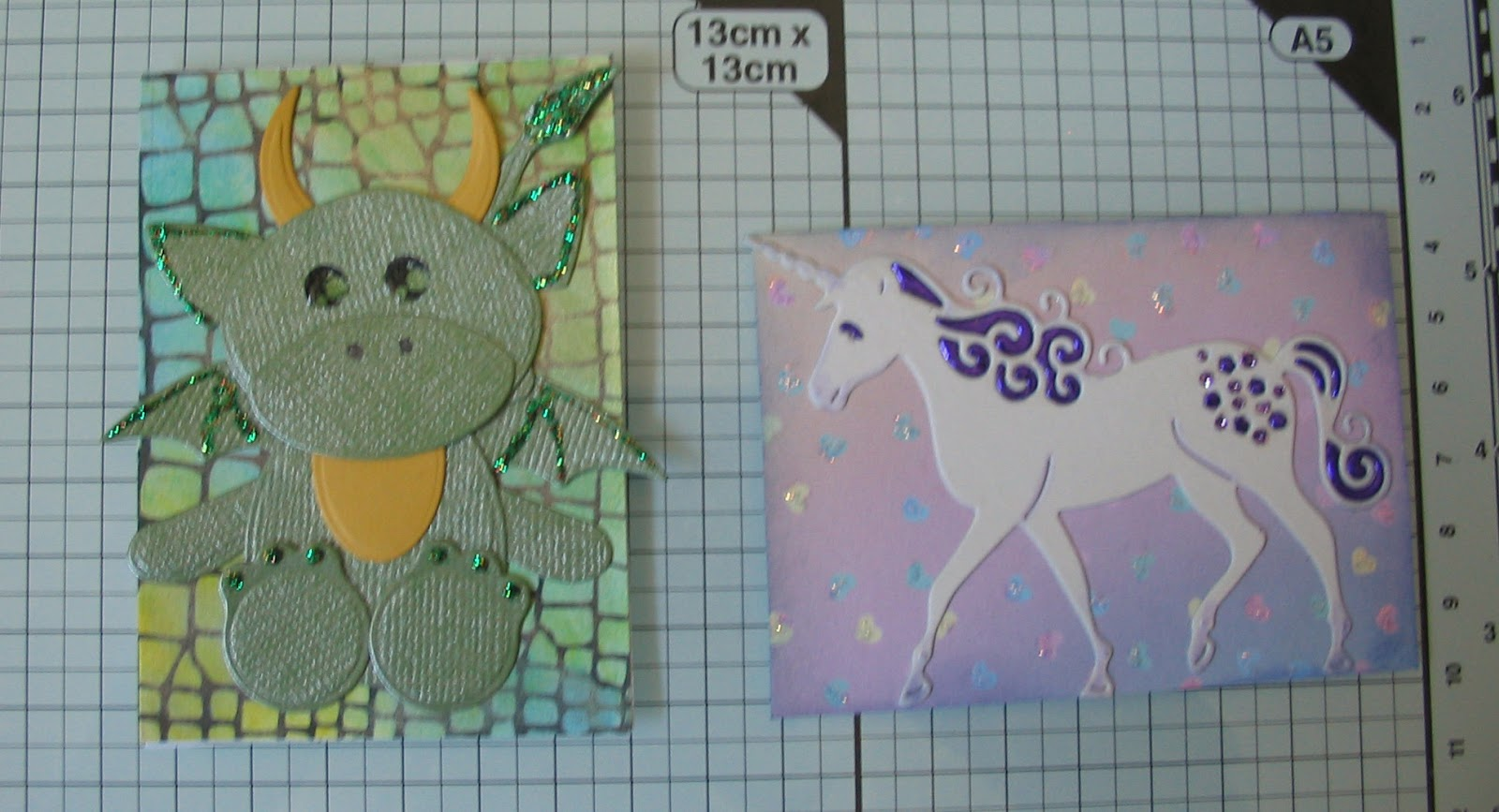 The ATCs Were A Cute Little Dragon Made With Tattered Lace Tiny Tubs Dies On Another Hand Drawn Dragonskin Background And Pretty Die Cut Inlaid