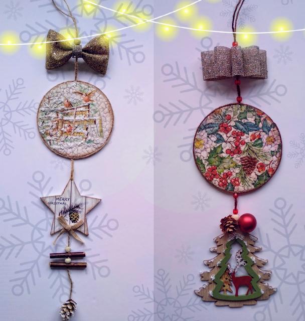 adornos-navideños-reciclando-cd-cascara-de-huevo-decoupage-cartel-II-Crea2-con-Pasión