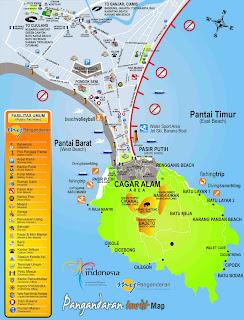 peta wisata pasngandaran