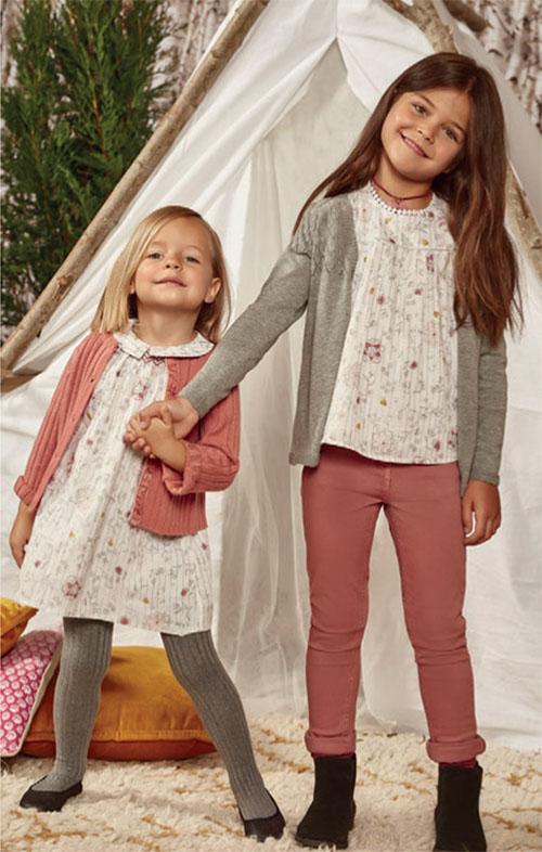 Pantalones, sacos, blusas y vestidos para niñas moda otoño invierno 2018.