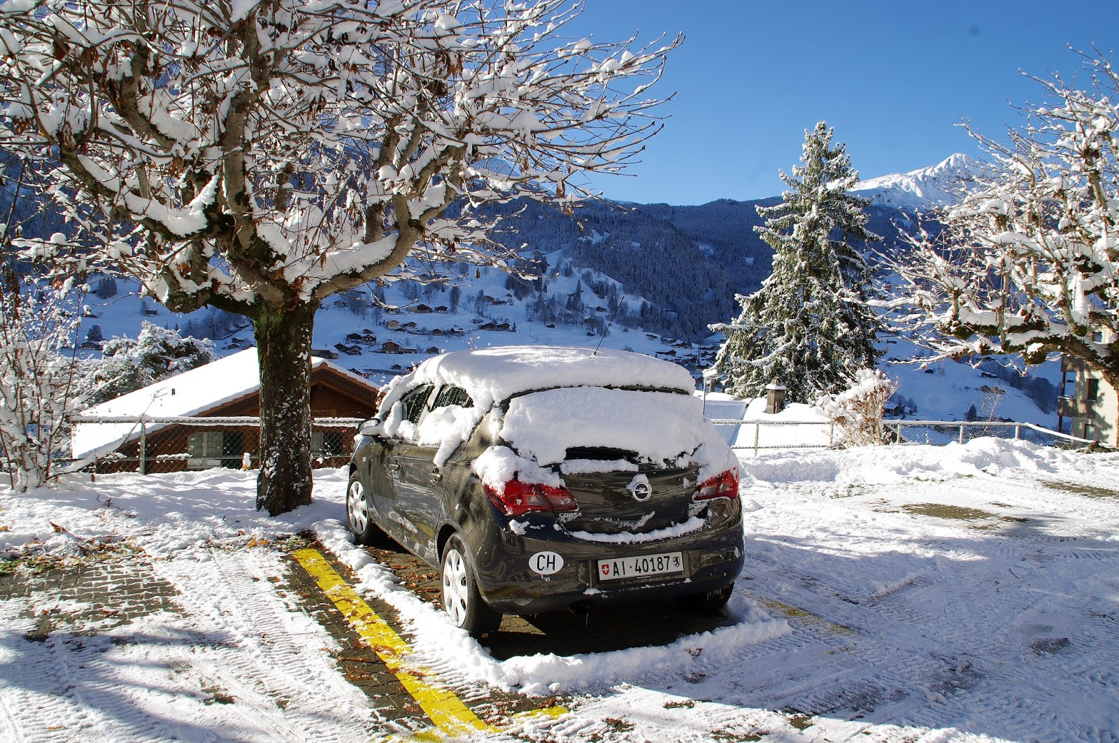 Switzerland Winter Car