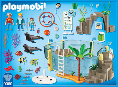 PLAYMOBIL Family Fun - 9060 Acuario Marino : Aquarium   2017 CONTENIDO CAJA