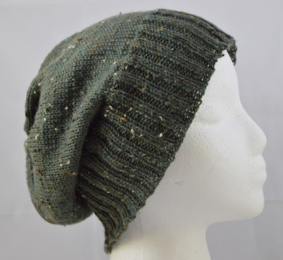 green beanie hat for sale at https://www.etsy.com/shop/JeannieGrayKnits