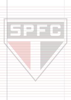 Papel Pautado do Sao Paulo PDF para imprimir na folha A4