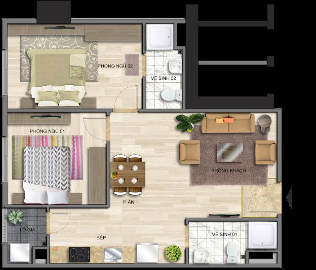 Mẫu thiết kế căn hộ EuroWindow River Park