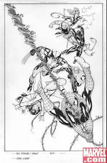"""Adam Kubert est un dessinateur de comics né en octobre 1959 à Boonton dans le New Jersey. Le dessin est une affaire de famille chez les Kubert, en effet le père Joe Kubert était un grand artiste surtout connu pour ses travaux sur sergent Rock chez DC comics et le frère, Andy, est lui aussi un des dessinateurs vedettes de DC. Adam est diplômé de l'institut technologique de Rochester en illustration médicale, mais aussi de l'école de son père la Joe Kubert School of cartoon and graphic arts. Ses premiers travaux chez DC comics se font sur la mini-série Batman vs Predator ou il encre son frère. Ensuite il débarque chez Marvel ou il sera surtout connu pour sa participation au titre Wolverine. Alors préparez-vous pour """"The Art of Adam Kubert""""!!!!!!!!!!!!!!"""