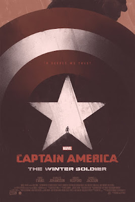 Captain America: The Winter Soldier Movie Poster Screen Print by Patrik Svensson x Bottleneck Gallery x Marvel