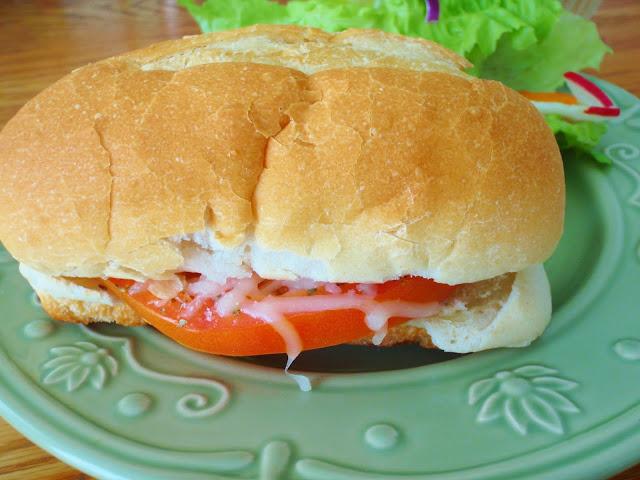 tomato mozzarella sandwiches