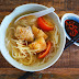 Rice Noodle Soup With Deep Fried Fish Fillets