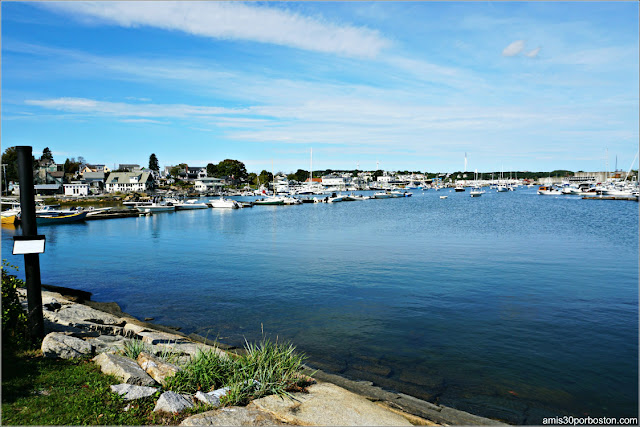 Vistas desde la Rocky Neck Art Colony en Gloucester, Massachusetts