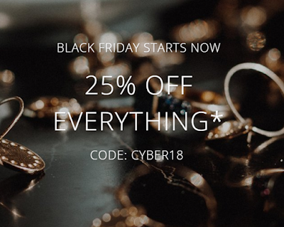 Orelia London - 25% off all jewellery excluding Luxe collection and gift vouchers     Use code; CYBER18