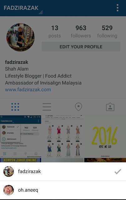 Cara Tambah Akaun Instagram