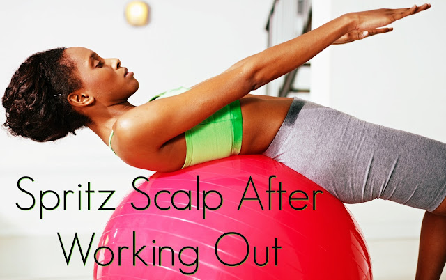 Click here to buy Devacurl Mist-Er Right Dream Curl Refresher, a great refresher after working out.