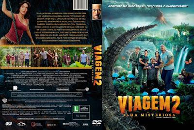 Filme Viagem 2 - A Ilha Misteriosa 3D DVD Capa