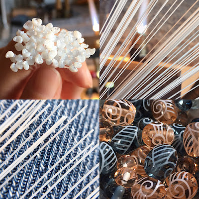 Stringer for decorating lampwork glass beads