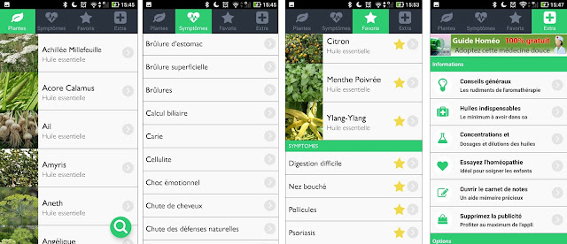 screen aroma guide application green