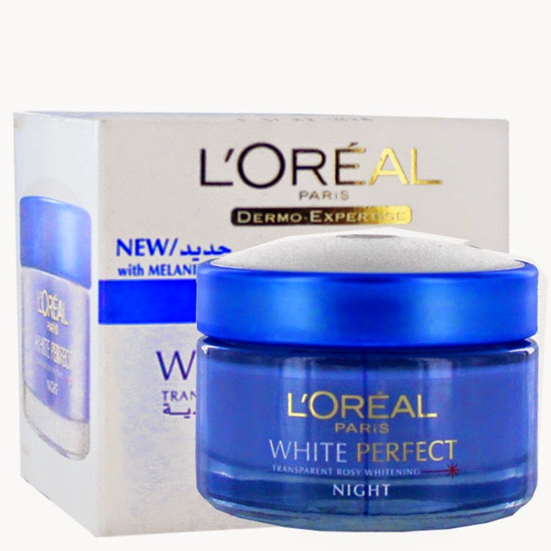L' Oreal white perfect Transparent rosy whitening night cream