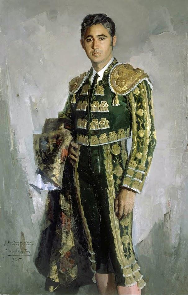 Paco Camino, Félix Revello de Toro, Revello de Toro, Pintores Malagueños, Retratos de Revello de Toro, Pintor español, Pintores de Málaga, Pintor Revello de Toro, Retrato del torero Paco Camino