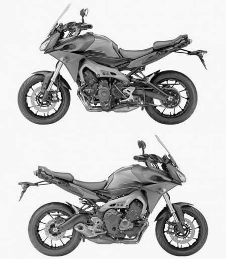 Yamaha Mt 09 Versi Touring Bocoran Gambarnya