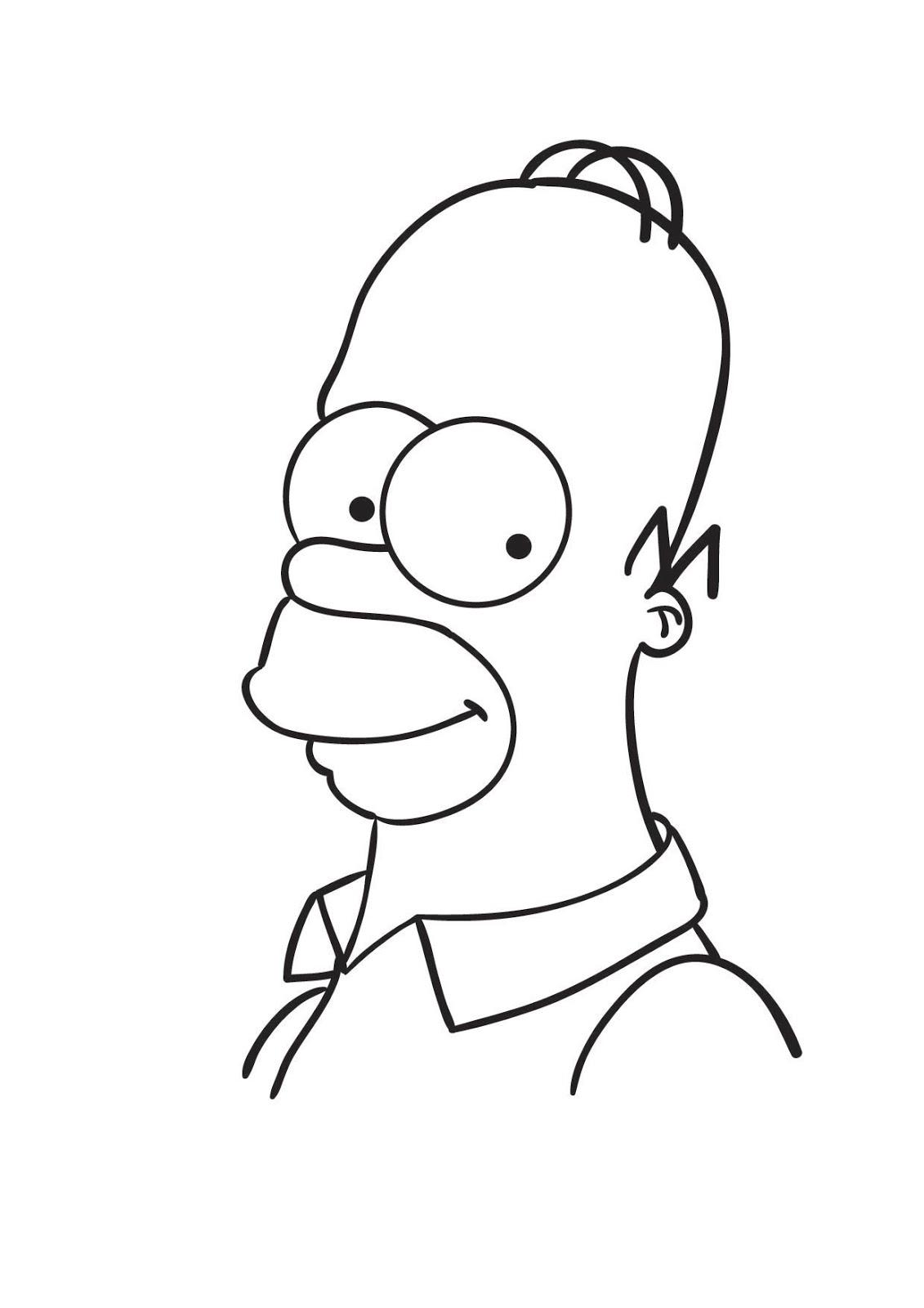Luxo Desenhos Para Colorir Simpsons Homer Melhores Casas De
