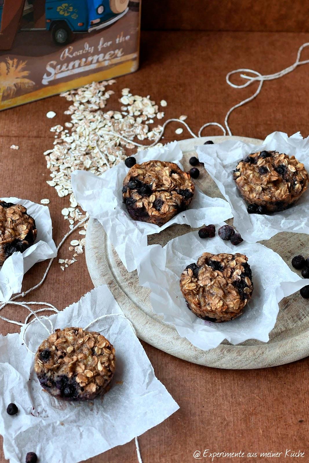 Unterwegs mit VW: Haferflocken-Muffins / oatmeal muffins