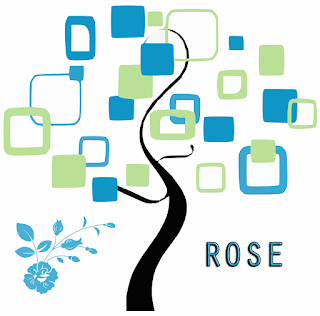 Stylised tree to represent Rose family tree