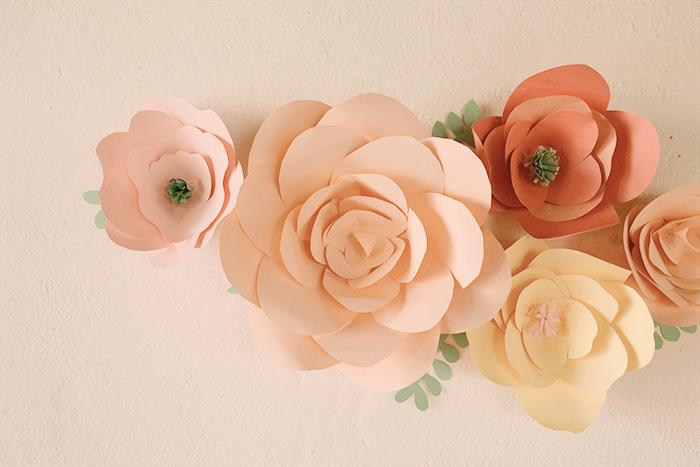 fiori di carta diy